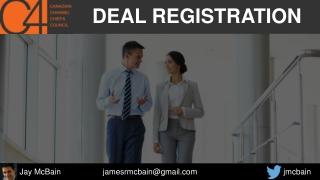 Deal Registration - Channel Chiefs Council Webinar - Jay McBain - Dec 2016