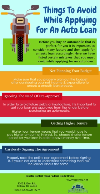 Things To Avoid While Applying For An Auto Loan