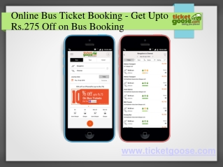 Online Bus Ticket Booking - Get Upto Rs.275 Off on Bus Booking