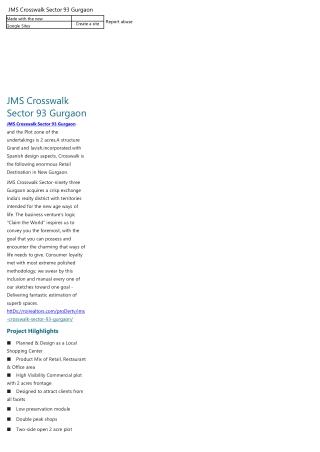 JMS Crosswalk Gurgaon 93 Gurgaon