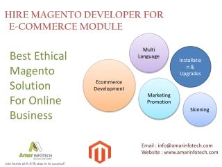 Hire Magento Developer For E-commerce