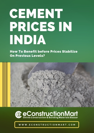 Cement Prices in India: How to Benefit before Prices Stabilize on Previous Levels?