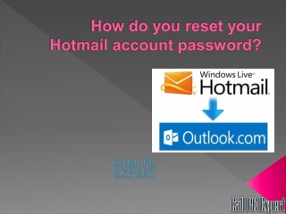 How Do You Reset Your Hotmail Account Password?