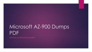 Microsoft AZ-900 Dumps PDF~100% Valid And Up To Date