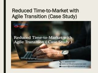 Reduced Time-to-Market with Agile Transition
