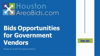 Bids Opportunities for Government Vendors in Houston