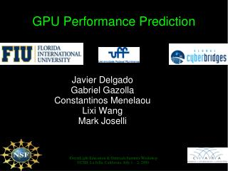 GPU Performance Prediction