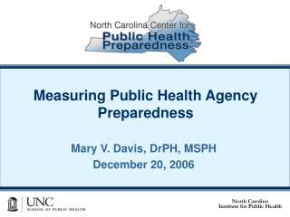 Measuring Public Health Agency Preparedness