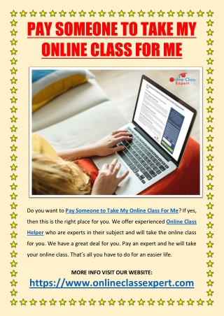 Pay Someone to Take My Online Class For Me