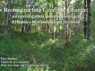 Reconstructing Land-use Change:  an investigation into the historical dynamics of woody plant invasion