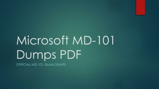Microsoft MD-101 Dumps PDF ~ Skills To Success [2019]