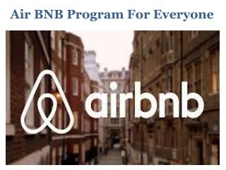 Air BNB Program For Everyone