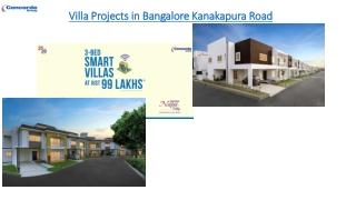 VillaProjectsinBangaloreKanakapuraRoad