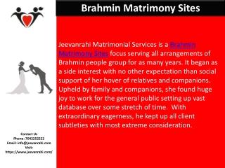 Brahmin Matrimony Sites   Best Matchmaker Sites