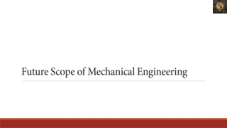 Future Scope of Mechanical Engineering