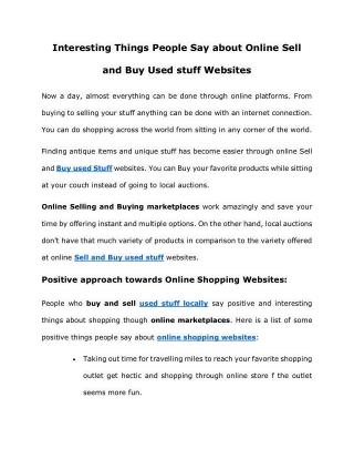 Sell buy used stuff