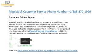 MagicJack cares  1(888)626-6555 Magicjack customer service