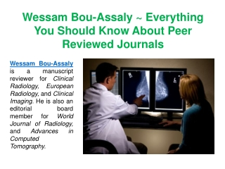 Wessam Bou-Assaly Is A Manuscript Reviewer For Clinical Radiology