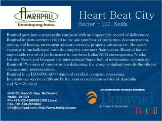 Amrapali Heart Beat City Noida CALL US 9999062968