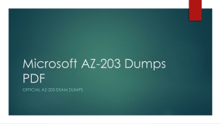 Microsoft AZ-203 Dumps PDF~100% Valid And Up To Date