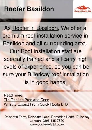Roofer Basildon