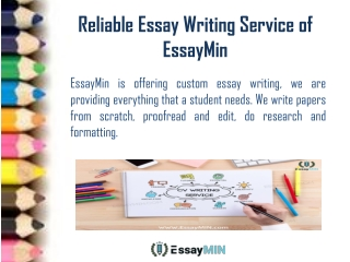 Contact the Most Reliable Essay Writing Service Provider EssayMin