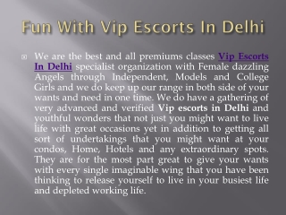 Where can I Get Independent Dating In Delhi