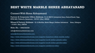 Best White Marble Shree Abhayanand