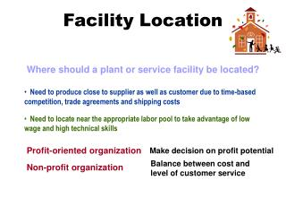 how do facility locations differ between service facilities and manufacturing plants Facility location is the right location for the manufacturing facility facility location facility locations manufacturing and service.