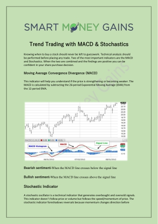 Trend Trading with MACD & Stochastics