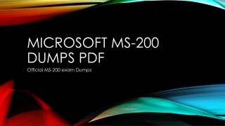 Microsoft MS-200 Dumps PDF~ Helping Material [2019]