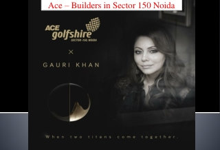 Builders in Sector 150 Noida - Ace