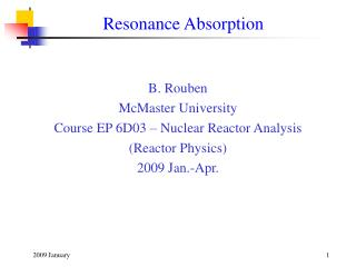 Resonance Absorption