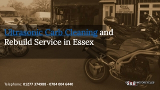 Ultrasonic Carb Cleaning in Essex