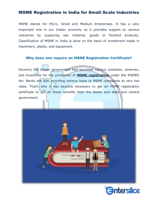 MSME Registration Online India for Small Scale Industries
