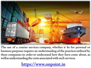 Understanding Courier Services and Logistics