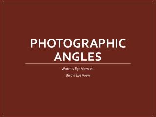 PhotoGRAPHIC Angles