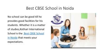 BestCBSESchoolsinNoida
