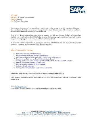 SAP EWM Course Content PDF