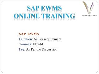 SAP EWM PPT
