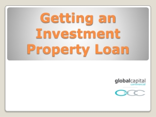 Getting an Investment Property Loan