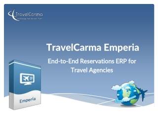 TravelCarma Emperia - Reservations ERP for Travel Agencies
