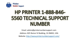 Hp Printer 1-888-846-5560 Technical Support Number