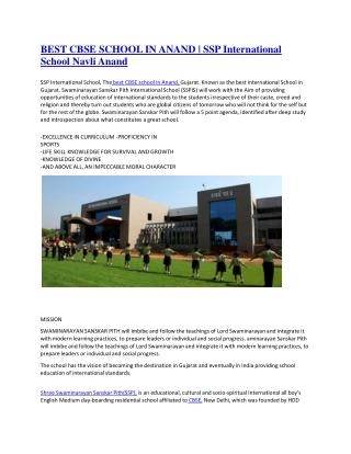 Best CBSE School In Gujarat