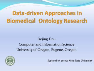 Data-driven Approaches in Biomedical  Ontology Research