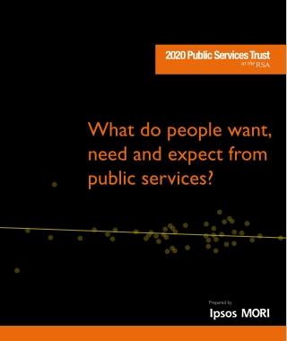 Ipsos mori 2020 public services trust