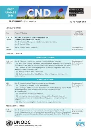 Programme 61 CND UNODC 2018