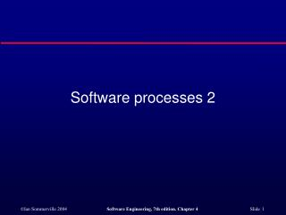 Software processes 2