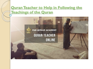 Quran Teacher Online