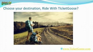 Choose your destination, Ride With TIcketGoose